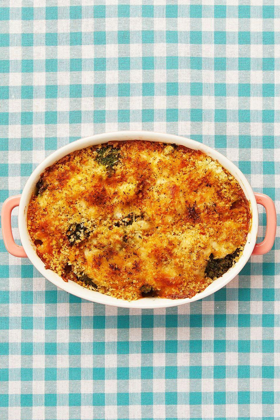 """<p>This holiday mainstay is packed to the brim with cheesy goodness. The broccoli adds a refreshing, tender layer of flavor to an already outstanding dish.</p><p><strong><a href=""""https://www.thepioneerwoman.com/food-cooking/recipes/a11888/broccoli-cauliflower-casserole/"""" rel=""""nofollow noopener"""" target=""""_blank"""" data-ylk=""""slk:Get the recipe"""" class=""""link rapid-noclick-resp"""">Get the recipe</a>.</strong></p><p><a class=""""link rapid-noclick-resp"""" href=""""https://go.redirectingat.com?id=74968X1596630&url=https%3A%2F%2Fwww.walmart.com%2Fsearch%2F%3Fquery%3Dbakeware&sref=https%3A%2F%2Fwww.thepioneerwoman.com%2Ffood-cooking%2Fmeals-menus%2Fg35589850%2Fmothers-day-dinner-ideas%2F"""" rel=""""nofollow noopener"""" target=""""_blank"""" data-ylk=""""slk:SHOP BAKEWARE""""><strong>SHOP BAKEWARE</strong></a></p>"""