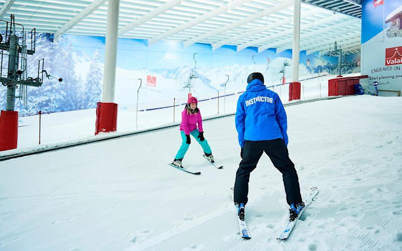 Lessons are often available at ski centres in the UK - Ross Woodhall