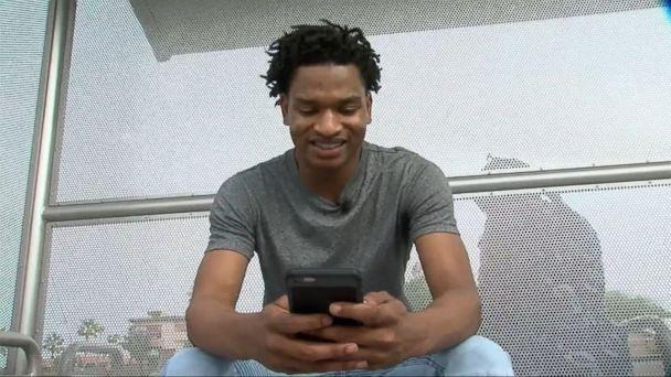 VIDEO: Jamal Hinton, 17, was sitting in class when he received a message from a woman who thought she was texting her grandson. (KNXV)