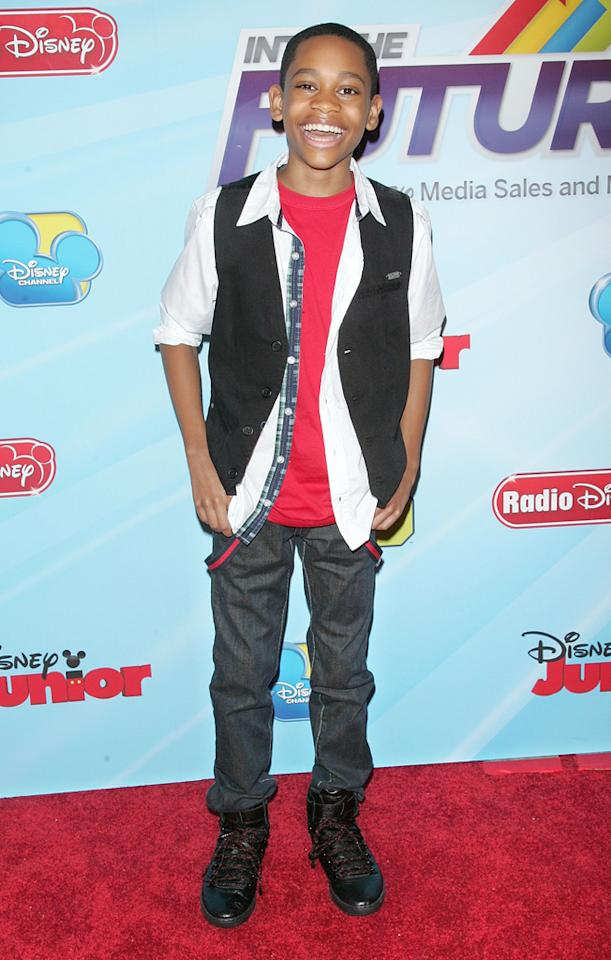 """Tyrel Jackson Williams (""""<a href=""""http://tv.yahoo.com/lab-rats/show/48335"""">Lab Rats</a>"""") attends the 2012-13 Disney Channel Worldwide Kids Upfront event at the Hard  Rock Cafe: Times Square on March 13, 2012 in New York City."""
