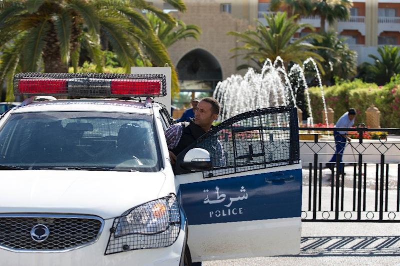 A Tunisian police car in Sousse, where a youth was detained and later jailed for homosexuality