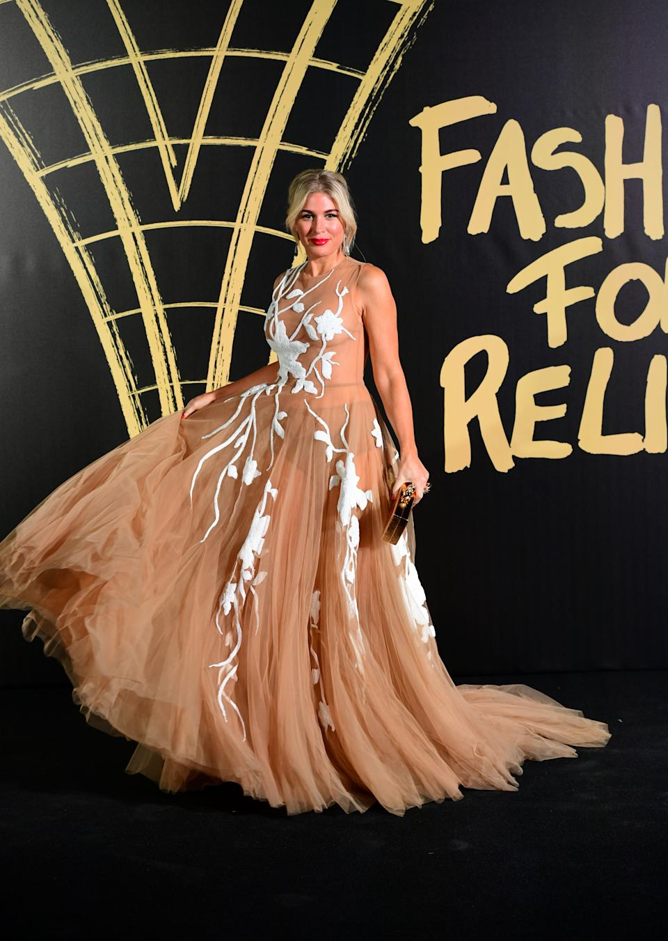Hofit Golan arriving on the red carpet for Naomi Campbell's Fashion For Relief Gala during London Fashion Week [Photo: PA]