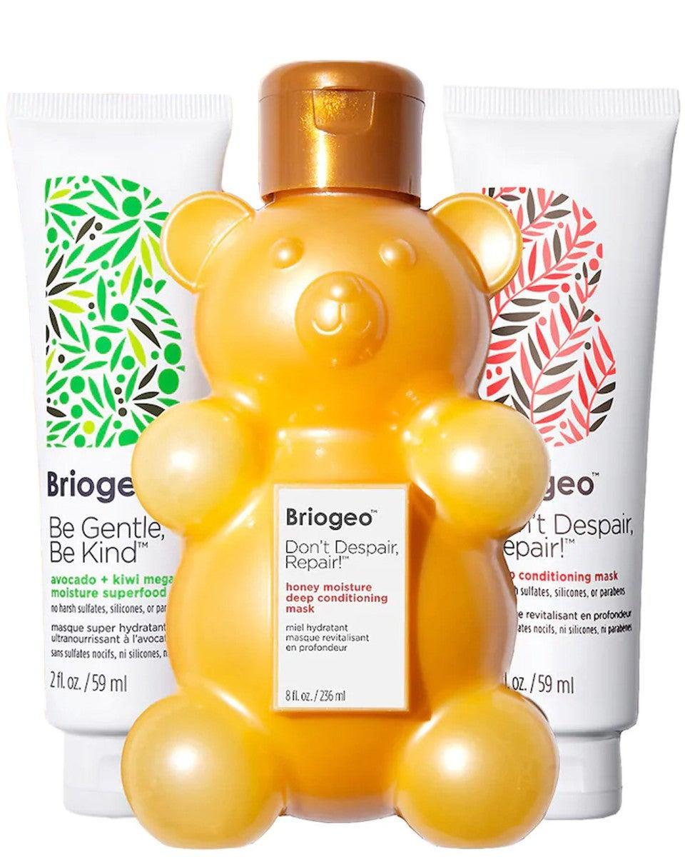 """<h3>Briogeo Merry Multi-Masking Kit</h3><br>A clean and hydrating hair-mask set for your friend who loves her <a href=""""https://www.refinery29.com/en-us/women-hair-growth-tips"""" rel=""""nofollow noopener"""" target=""""_blank"""" data-ylk=""""slk:long hair"""" class=""""link rapid-noclick-resp"""">long hair</a> — <em>and</em> complaining about its <a href=""""https://www.refinery29.com/en-us/how-to-repair-split-dry-ends"""" rel=""""nofollow noopener"""" target=""""_blank"""" data-ylk=""""slk:split ends"""" class=""""link rapid-noclick-resp"""">split ends</a>.<br><br><strong>Briogeo</strong> Briogeo Merry Multi-Masking, $, available at <a href=""""https://go.skimresources.com/?id=30283X879131&url=https%3A%2F%2Fbriogeohair.com%2Fproducts%2Fmerry-multi-masking-kit"""" rel=""""nofollow noopener"""" target=""""_blank"""" data-ylk=""""slk:Briogeo"""" class=""""link rapid-noclick-resp"""">Briogeo</a>"""