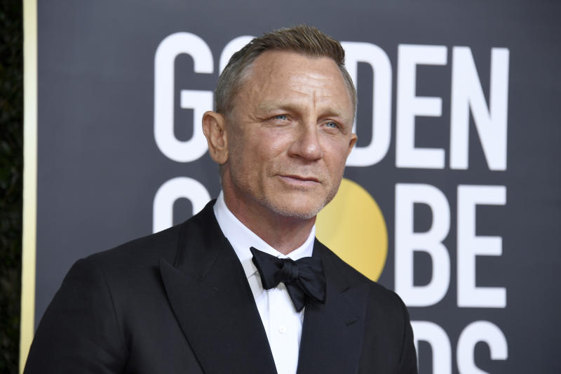 BEVERLY HILLS, CALIFORNIA - JANUARY 05: 77th ANNUAL GOLDEN GLOBE AWARDS -- Pictured: Daniel Craig arrives to the 77th Annual Golden Globe Awards held at the Beverly Hilton Hotel on January 5, 2020. -- (Photo by: Kevork Djansezian/NBC/NBCU Photo Bank via Getty Images)