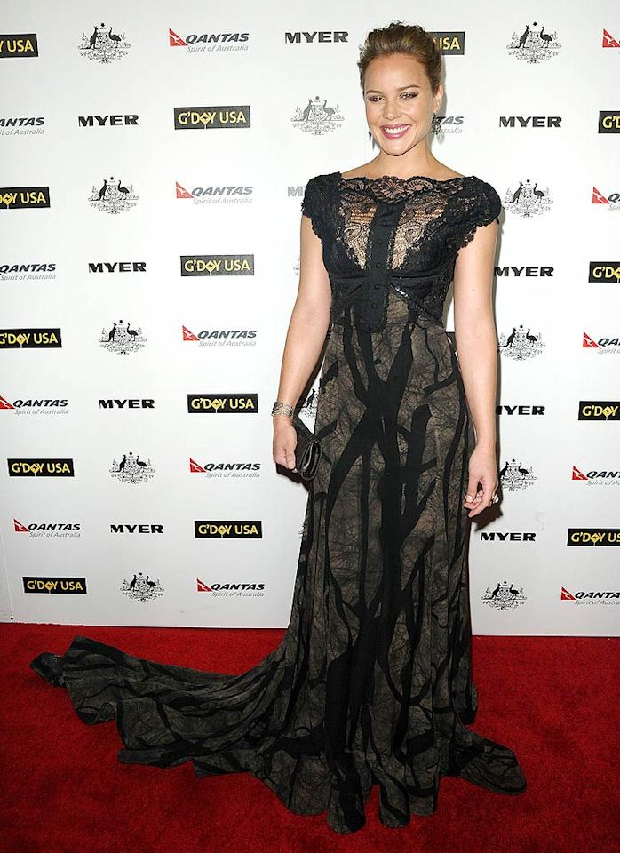 "Fellow Aussie Abbie Cornish dressed to impress at the 2011 G'Day USA black tie gala in a breathtaking Elie Saab extravaganza. A delicate updo, Vram by Grey jewels, and a bright smile made the ""Bright Star"" actress stand out amongst the other A-listers in attendance. Jason LaVeris/<a href=""http://www.filmmagic.com/"" target=""new"">FilmMagic.com</a> - January 22, 2011"