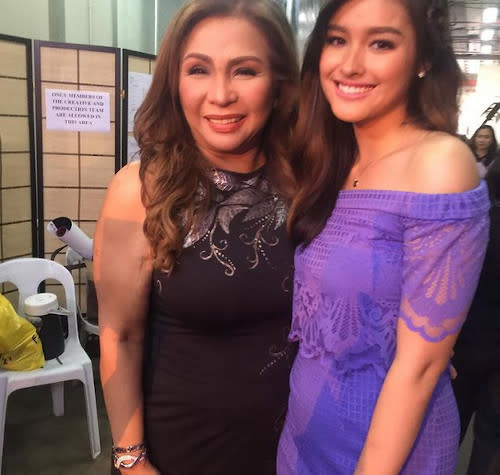 Claire seen here with actress Liza Soberano