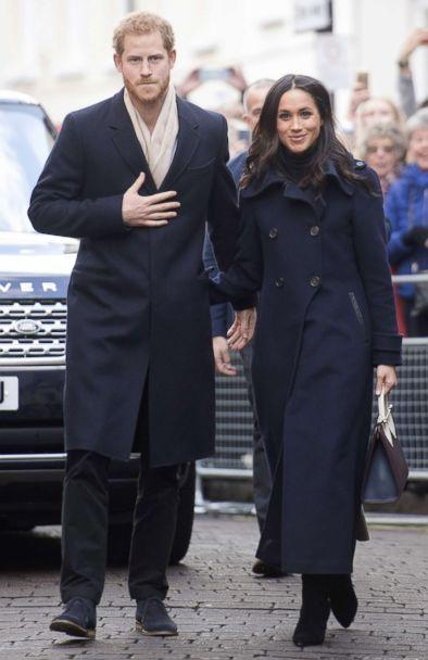 PHOTO: Prince Harry and his fiancee, US actress Meghan Markle, visit Nottingham for their first official public engagement together, Dec. 1, 2017 in Nottingham, England. (Jeremy Selwyn/WPA/Getty Images)