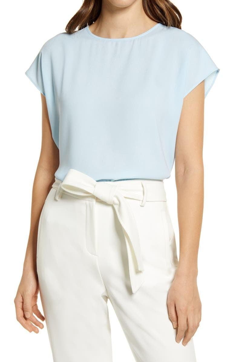 <p>The popular <span>Halogen Cap Sleeve Blouse</span> ($49) is a Nordstrom bestseller, and it's easy to see why. You can easily take this top from work to date night or out with friends. Plus, it comes in a number of patterns and shades, so you can choose your favorite.</p>