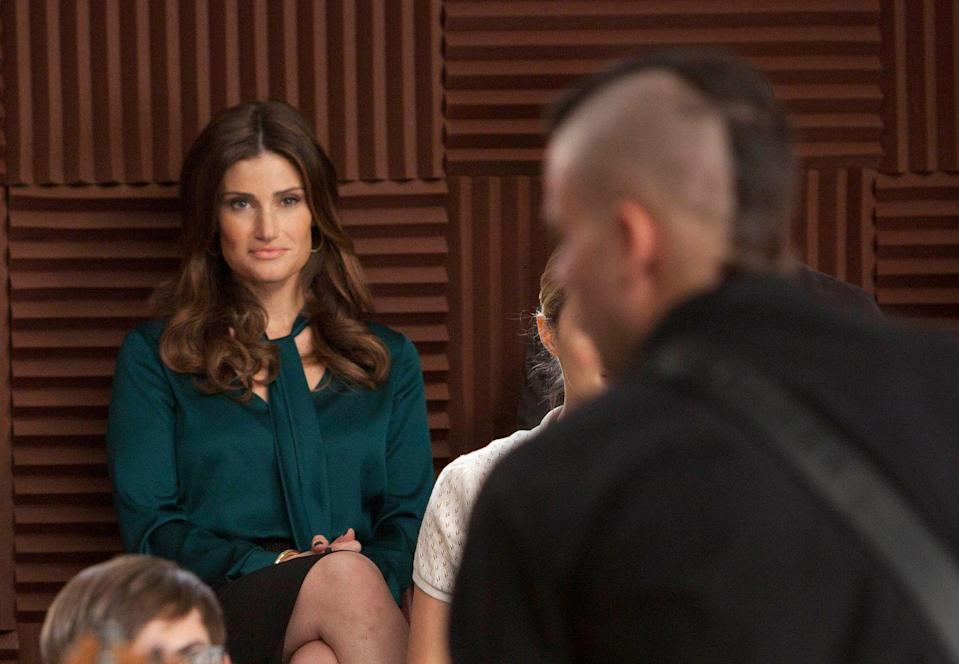 "<p>A musical TV show isn't a musical TV show until Idina Menzel stops by to belt out some tunes. The Broadway star caused a little bit of drama in season one as the coach of Vocal Adrenaline, the Glee club's archrivals, and she eventually turned out to be Rachel's biological mother. Then, you know, there was that whole ""adopting Quinn and Puck's baby and then forming a questionable relationship with Puck"" thing in season two. </p>"