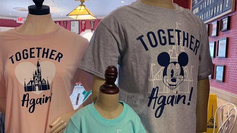 The merchandise sums up how guests and Disney employees feel about the reopening.