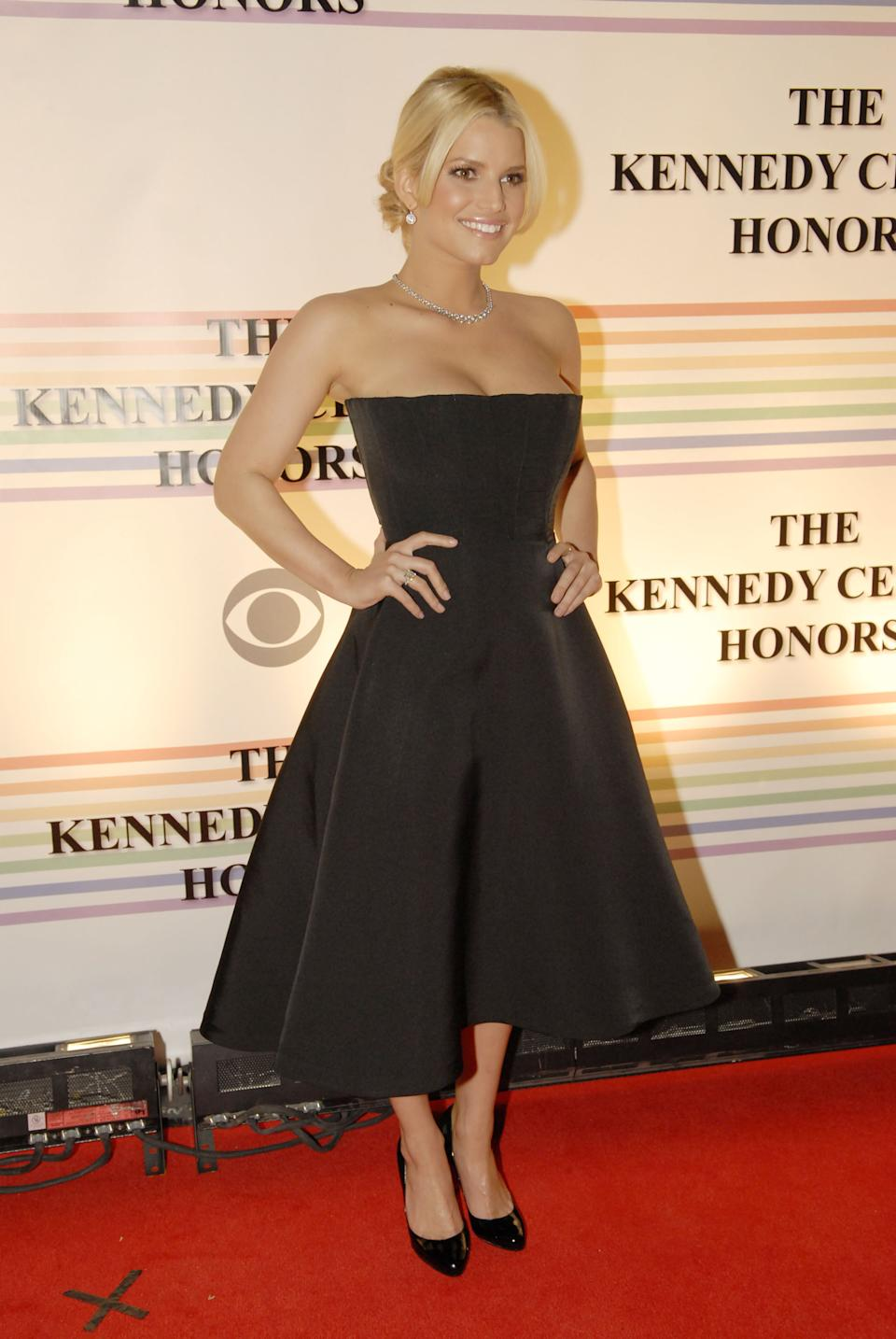 Jessica Simpson at the 2006 Kennedy Center Honors Image via Getty Images.