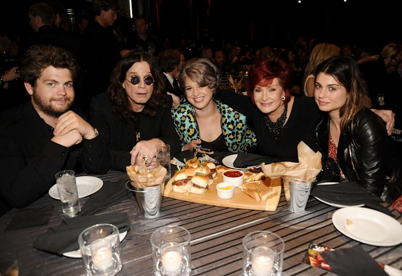 "Jack Osbourne, Ozzy Osbourne, Kelly Osbourne, Sharon Osbourne and Aimee Osbourne attend Spike TV's 4th Annual ""Guys Choice Awards"" held at Sony Studios on June 5, 2010 in Los Angeles, California."