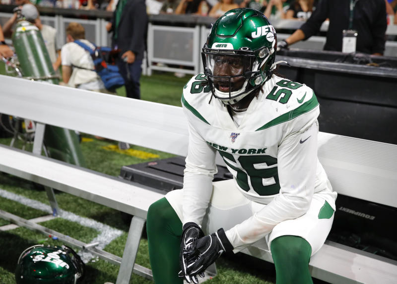 It was shocking when the New York Jets released third-round pick Jachai Polite before he ever played a regular-season game. (Getty Images)