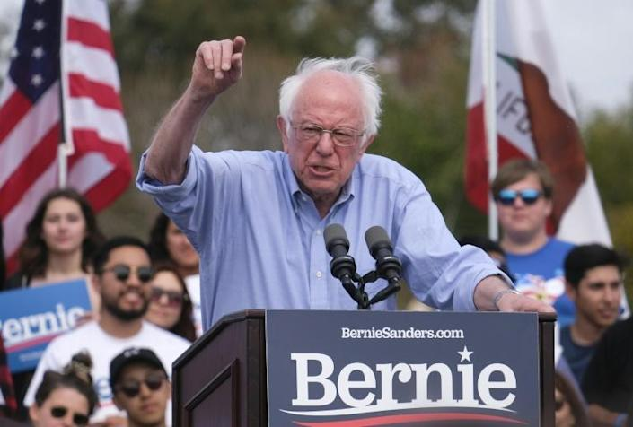 Democratic presidential hopeful Vermont Senator Bernie Sanders (pictured February 2020) urged young supporters to go vote (AFP Photo/RINGO CHIU)