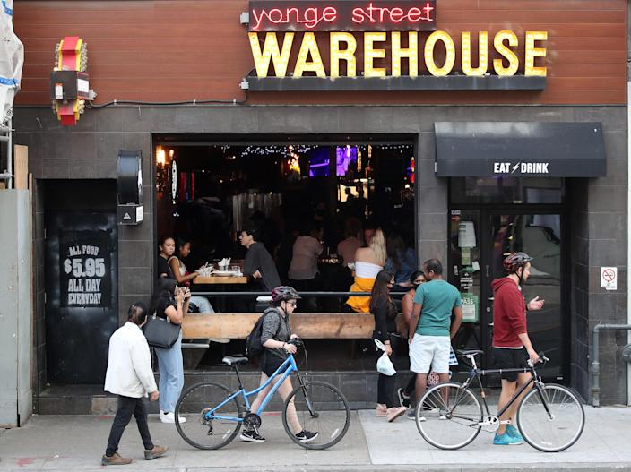 Five staff and two patrons have recently tested positive after being at Yonge Street Warehouse in Toronto. (Steve Russell/Toronto Star via Getty Images)