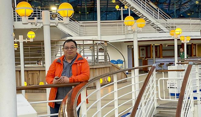 Young Wo-sang is marooned on the Diamond Princess, where passengers are told to stay in their tiny rooms. Photo: Handout
