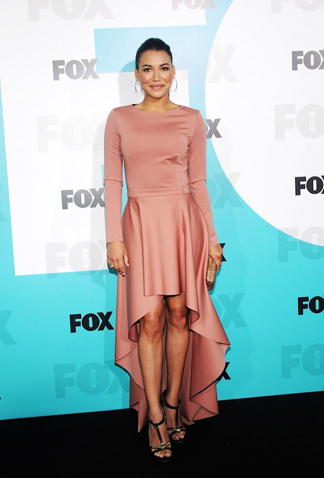 "Naya Rivera (""Glee"") attends the Fox 2012 Upfronts Post-Show Party on May 14, 2012 in New York City."