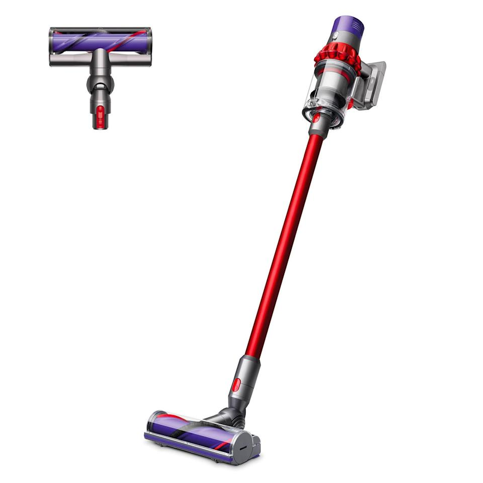 """To save even more, opt for a refurbished vacuum cleaner from Walmart. As proven by the impressive star rating and reviews, this pre-loved cordless model still gets the job done. $300, Walmart. <a href=""""https://www.walmart.com/ip/Dyson-V10-Motorhead-Cordless-Vacuum-Cleaner-Red-Refurbished/544007545"""" rel=""""nofollow noopener"""" target=""""_blank"""" data-ylk=""""slk:Get it now!"""" class=""""link rapid-noclick-resp"""">Get it now!</a>"""