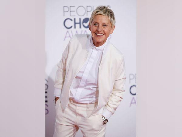 American comedian and TV show host Ellen DeGeneres.