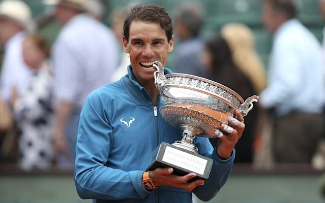 Rafael Nadal celebrates his French Open win in trademark style - Getty Images Europe