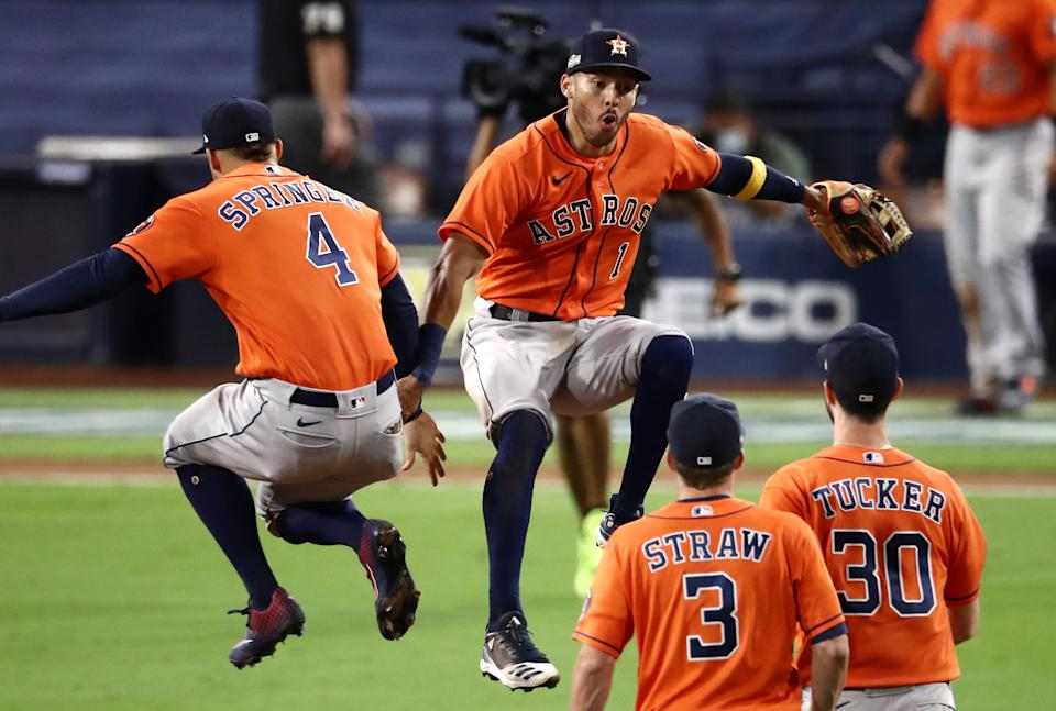 By forcing Game 7 in the ALCS, the Houston Astros have already made MLB postseason history. (Photo by Sean M. Haffey/Getty Images)