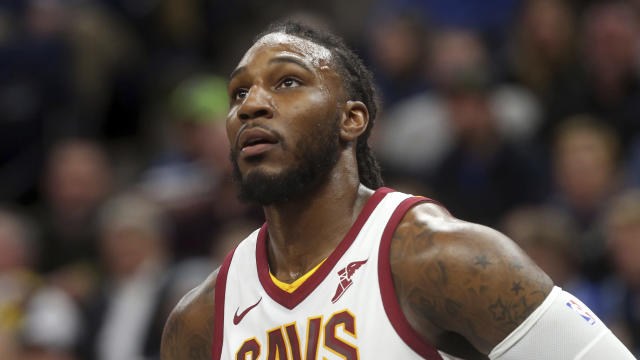 "<a class=""link rapid-noclick-resp"" href=""/nba/players/5068/"" data-ylk=""slk:Jae Crowder"">Jae Crowder</a> struggled in Cleveland but could find new life after being traded to Utah. (AP Photo/Jim Mone)"