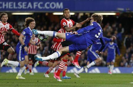Britain Football Soccer - Chelsea v Southampton - Premier League - Stamford Bridge - 25/4/17 Chelsea's Marcos Alonso in action Reuters / Stefan Wermuth Livepic