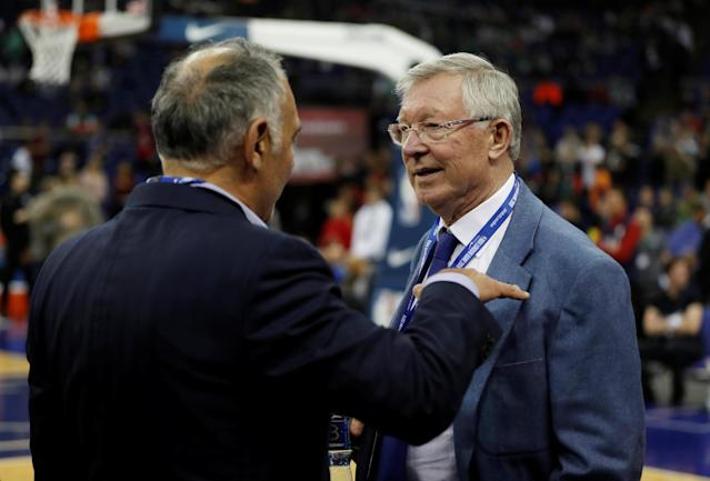 Basketball - NBA - Boston Celtics vs Philadelphia 76ers - O2 Arena, London, Britain - January 11, 2018 Former Manchester United manager Alex Ferguson before the game REUTERS/Matthew Childs