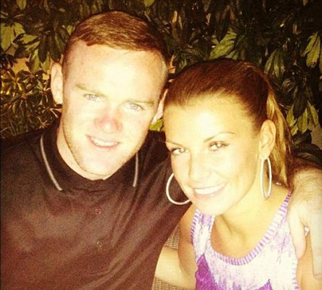 "Celebrity photos: Wayne and Coleen Rooney have been enjoying a sunny holiday in LA for the past few days. Wayne tweeted this cute photo of the pair having dinner, with the caption: ""Me and Coleen in los Angeles having dinner. Time to chill."" [sic] Copyright [Wayne Rooney]"