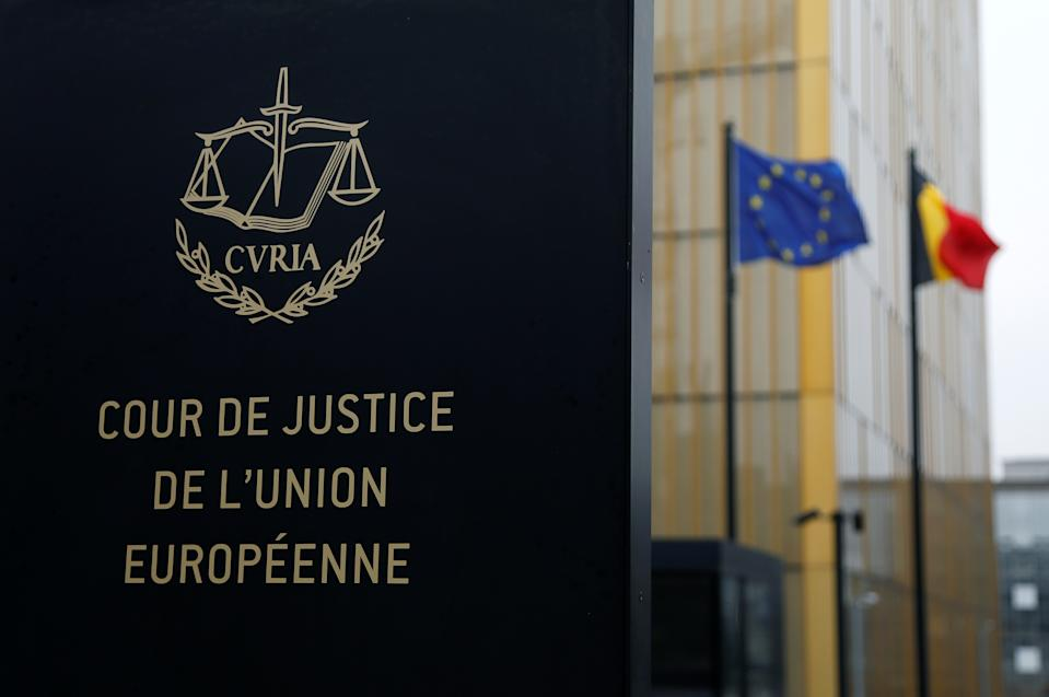 The entrance of the European Court of Justice is pictured in Luxembourg, January 26, 2017. Picture taken January 26, 2017. REUTERS/Francois Lenoir