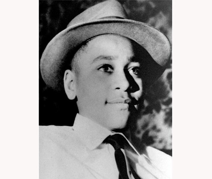 Emmett Louis Till, a 14-year-old black Chicago teen, who was kidnapped, tortured, and murdered in 1955 after he allegedly whistled at a white woman in Mississippi. (AP Photo, File)