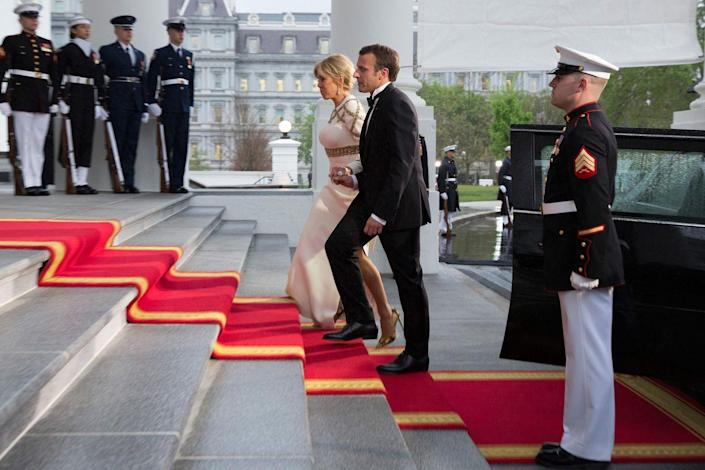 <p>Even though the State Dinner is the most formal affair, the French President and his wife's two-day visit also included dinner George Washington's Mount Vernon, a tree planting on the White House South Lawn, and a joint news conference.</p>