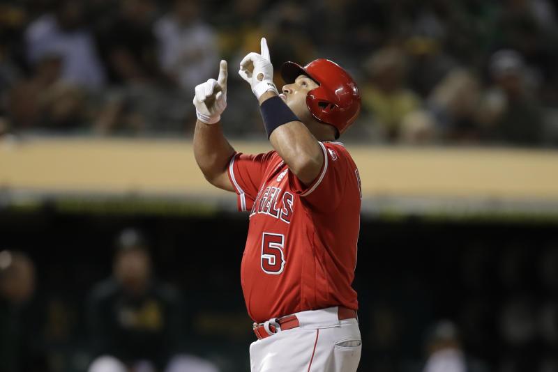 Seth Brown hits 2 triples as Athletics beat Angels 7-5