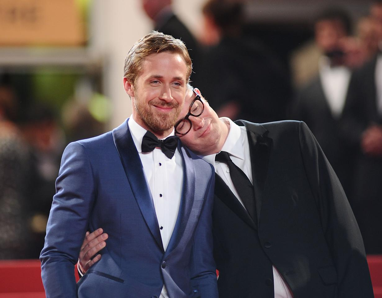 "CANNES, FRANCE - MAY 20:  Actor Ryan Gosling and director Nicolas Winding Refn attend the ""Drive"" premiere during the 64th Annual Cannes Film Festival at Palais des Festivals on May 20, 2011 in Cannes, France.  (Photo by Ian Gavan/Getty Images)"