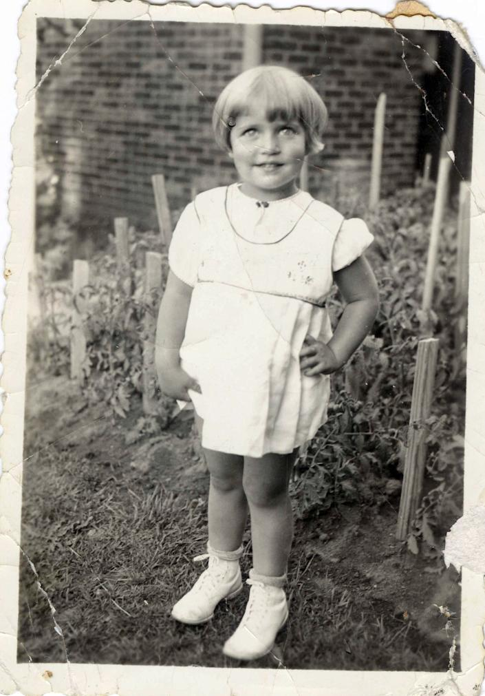 "<b>August 2, 1935</b> Childhood photograph of Ruth Bader taken when she was two years old. <span class=""copyright"">Collection of the Supreme Court of the United States</span>"