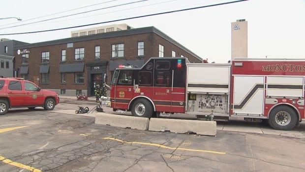 A fire inside a first-floor office at 173 Lutz St. in Moncton resulted in extensive damage.