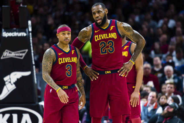 We're not going to say Isaiah Thomas and LeBron James hate each other, but we're not going to <i>not</i> say that, if you know what we mean. (Jason Miller via Getty Images)
