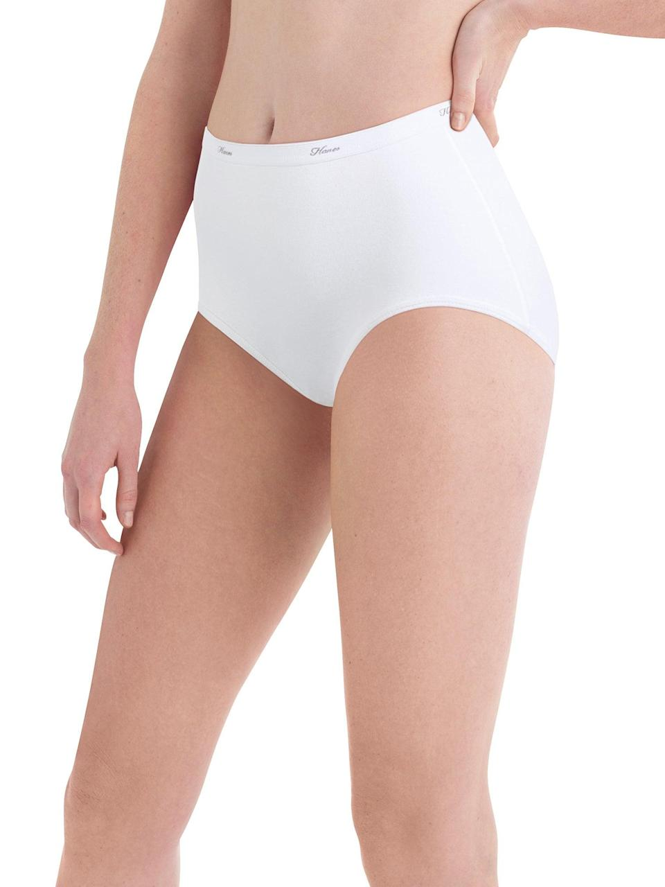 """<h3>Hanes Cool Comfort Cotton Brief</h3><br><strong>Best Economy Brief</strong><br><br>Leave it to Walmart to deliver on value. This quality cotton underwear pack's price couldn't get much lower if it tried. If you're on the hunt for an inexpensive, straightforward, full-coverage cotton option that you can count on, look no further. <br><br><strong>The Hype:</strong> 4.1 out of 5 stars; 4,431 reviews on <a href=""""https://www.walmart.com/ip/Hanes-Women-s-Cool-Comfort-Cotton-Brief-Panties-6-Pack/10855206"""" rel=""""nofollow noopener"""" target=""""_blank"""" data-ylk=""""slk:Walmart.com"""" class=""""link rapid-noclick-resp"""">Walmart.com</a><br><br><strong>What They Are Saying:</strong> """"Great fit and very comfy! Bought one package for me and one for my daughter. I've been buying these for many years now and love them! Sizing is right on the money and they're really comfortable!""""<br><br><br><br><strong>Hanes</strong> 6-Pack Cool Comfort Cotton Brief Panties, $, available at <a href=""""https://go.skimresources.com/?id=30283X879131&url=https%3A%2F%2Fwww.walmart.com%2Fip%2FHanes-Women-s-Cool-Comfort-Cotton-Brief-Panties-6-Pack%2F10855204"""" rel=""""nofollow noopener"""" target=""""_blank"""" data-ylk=""""slk:Walmart"""" class=""""link rapid-noclick-resp"""">Walmart</a>"""