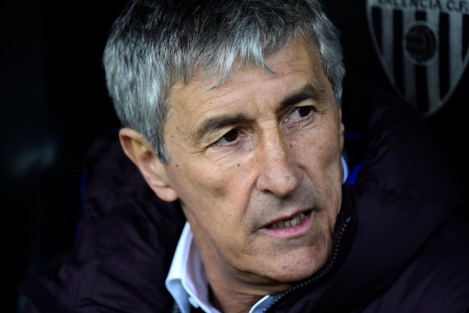 Quique Setien was appointed Barcelona boss less than two weeks ago (AFP via Getty Images)