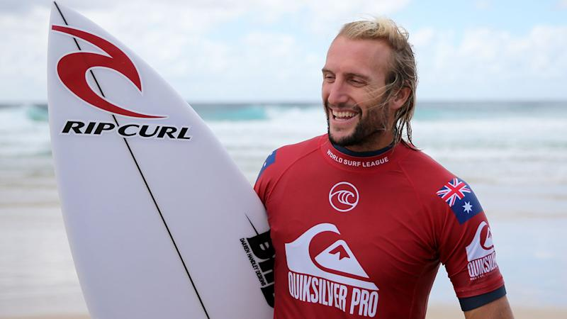 Seen here is Aussie surfer Owen Wright who is set to make his Olympic debut at Tokyo 2020.