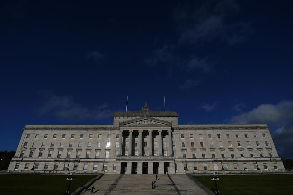 The Stormont Assembly will have the power to reject new EU laws and regulation in the backstop. Pic: Reuters