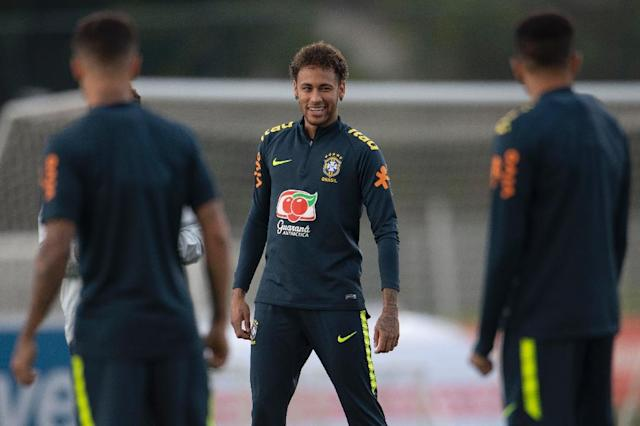 Neymar hasn't played a game since fracturing a bone in his right foot on February 25 (AFP Photo/Mauro PIMENTEL)
