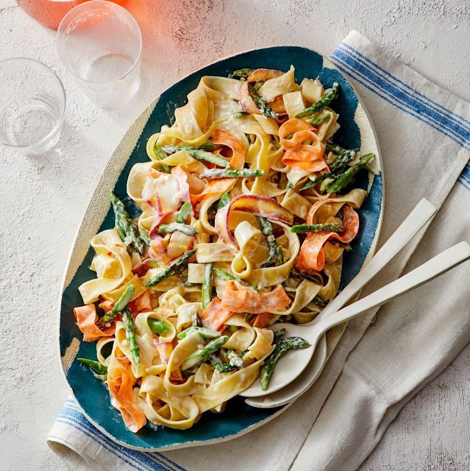 "<p>This springy 30-minute pasta dish will convince any picky kid to eat their veggies.</p><p><em><a href=""https://www.goodhousekeeping.com/food-recipes/easy/a32020655/pasta-primavera-recipe/"" rel=""nofollow noopener"" target=""_blank"" data-ylk=""slk:Get the recipe for Pasta Primavera »"" class=""link rapid-noclick-resp"">Get the recipe for Pasta Primavera »</a></em> </p>"