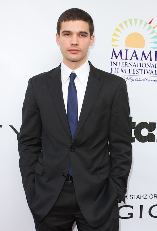 "Steven Strait attends the ""<a target=""_blank"" href=""http://tv.yahoo.com/magic-city/show/46996"">Magic City</a>"" premiere at Colony Theater on March 4, 2012 in Miami Beach, Florida."