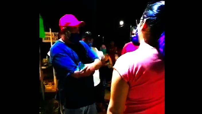 The footage of the roadblock in Melody's village was posted on social media