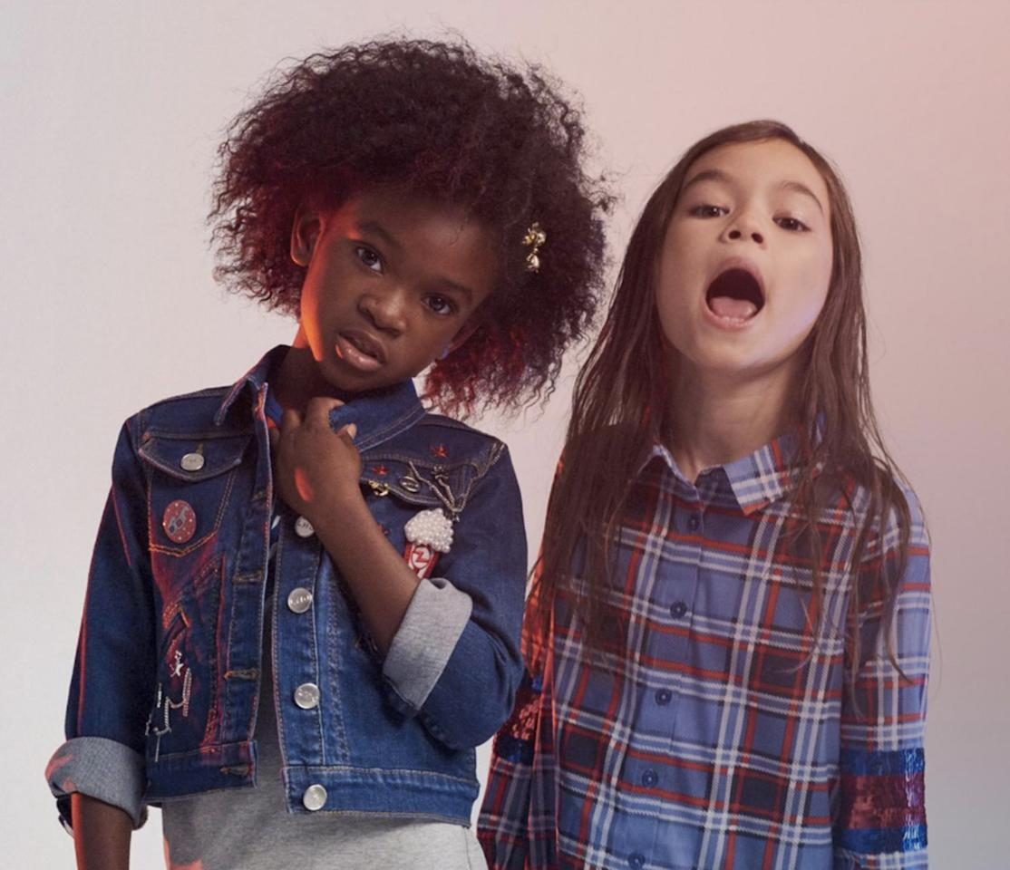 Of course, Marc Jacobs has a fun kids range too. The current Little Marc collection is full of lightweight printed jumpsuits, denim jackets and Marc-branded tees. You can also pick up fun accessories in the form of hair ties and pencil cases. Prices from £30 to £330.<br /><i>[Photo: Marc Jacobs]</i>