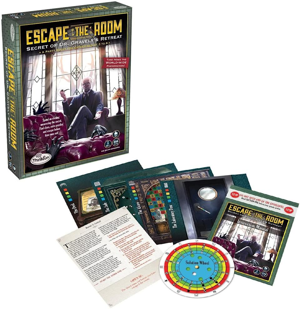 <p>Get the escape-room experience at home with the fun <span>ThinkFun Escape the Room Secret of Dr. Gravely's Retreat</span> ($19, originally $24).</p>