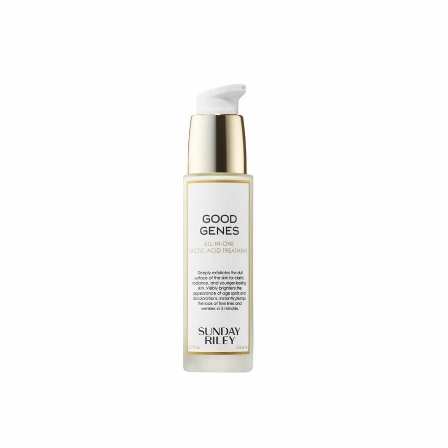 """Good Genes is one of those products you can't tell is working until you stop using it. I'm currently running low on my bottle, so it's top of mind for this sale. It's perfect to wear under makeup or as a nighttime serum, and it adds a softening and plumping effect to the skin. <em>—Khaliha Hawkins, producer</em> $158, Sephora. <a href=""""https://www.sephora.com/product/good-genes-all-in-one-lactic-acid-treatment-P309308"""">Get it now!</a>"""