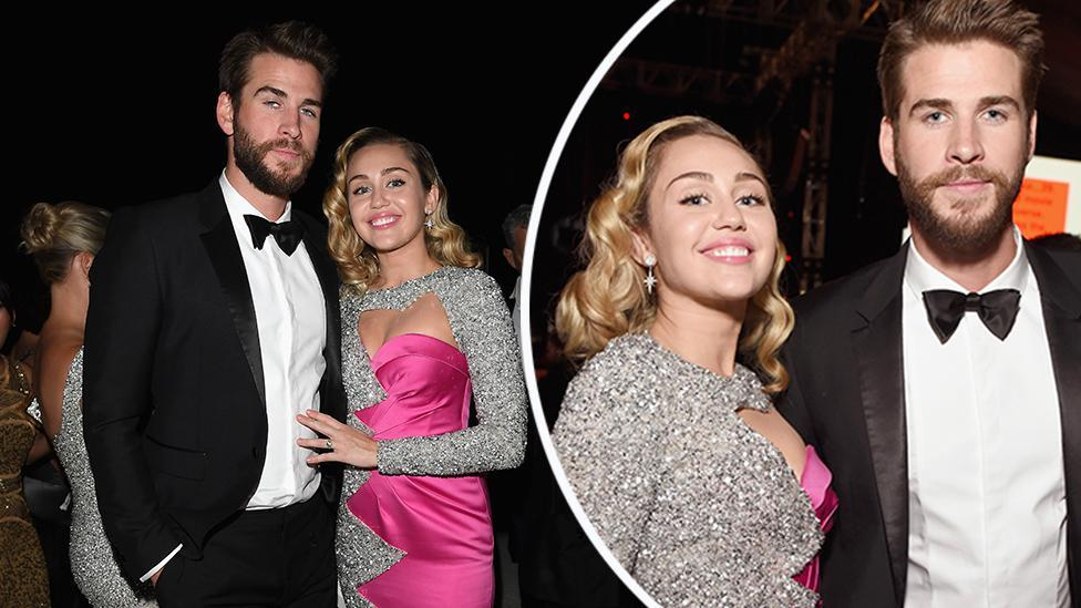 <p>Miley Cyrus and Liam Hemsworth are Oscars couple goals</p>