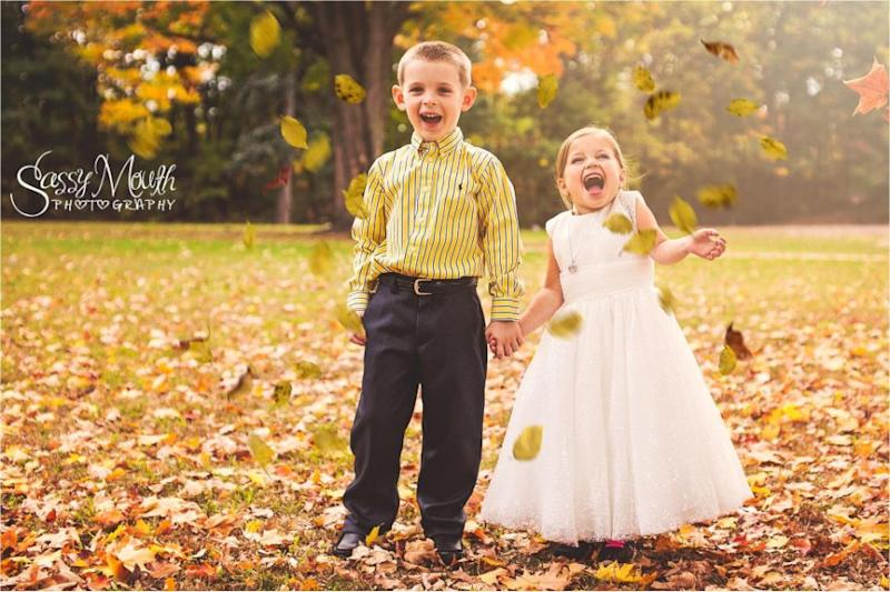 Sophia 'married' her best friend Hunter. Photo: Sassy Mouth Photo